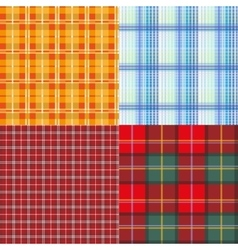 Set seamless texture plaid vector image