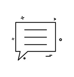 sms chat icon design vector image