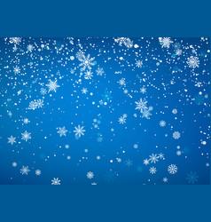 snowfall christmas background flying snow flakes vector image