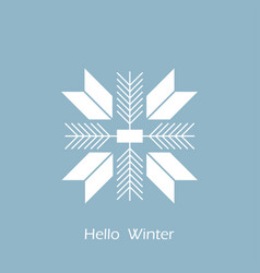 snowflake icon flat design snowflake hello winter vector image