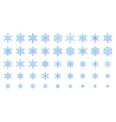 Snowflake simple color line icons snow set vector