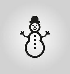 Snowman icon new year and xmas christmas winter vector