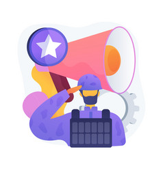 Special forces concept metaphor vector