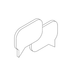 Speech bubbles icon isometric 3d style vector