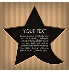 Speech cloud star Cardboard background vector image