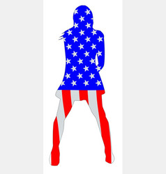 Stars and stripes girl vector