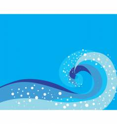 storm wave pattern vector image