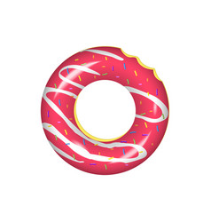 swim ring iconrubber ring isolated on white vector image