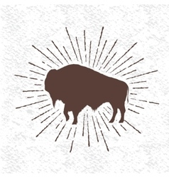 Symbol buffalo vector