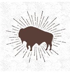 Symbol of buffalo vector