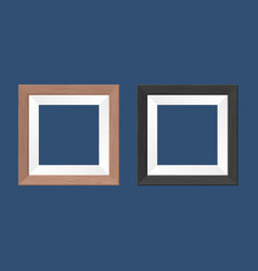 Template a couple square wooden frames vector