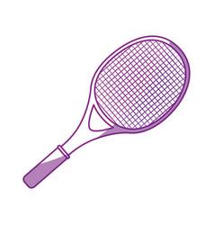 Tennis racket isolated vector