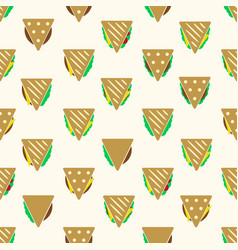tortilla or sandwich tacos food seamless pattern vector image