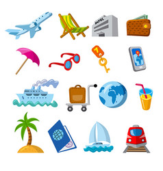 travel and journey icons vector image