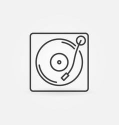 Vinyl player outline icon turntable concept vector