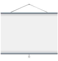 white blank projector screen vector image