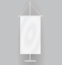 white table flag vector image