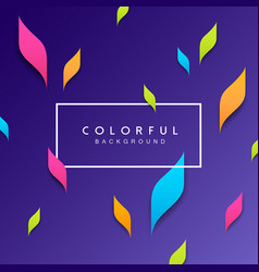 abstract artistic leaf colorful background vector image vector image