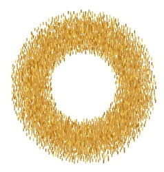 Abstract golden frame vector image vector image