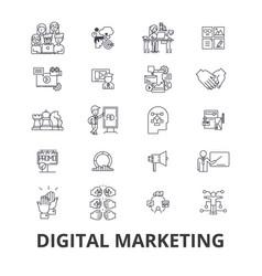 digital marketing business media social web seo vector image vector image