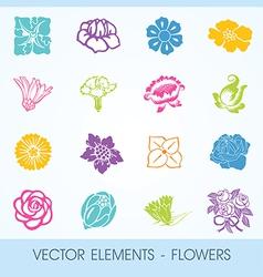 elements - flowers vector image