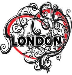 London doodle heart shape vector image