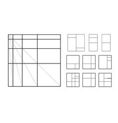 Modulor le corbusier cover template armonious vector