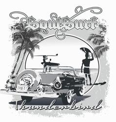 Thunderbird surf vector image vector image