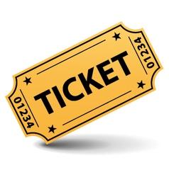 Yellow ticket vector image