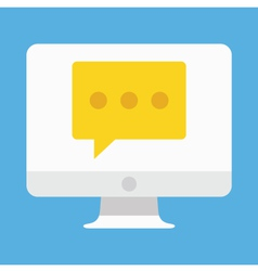 Computer Display Chat or Message Icon vector image vector image