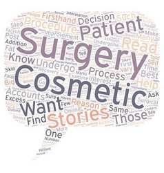Cosmetic Surgery Patient Stories Why You Should vector image