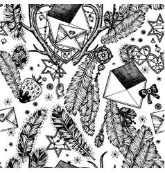 envelopes romance seamless pattern vector image vector image