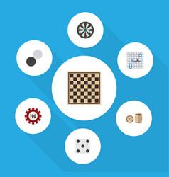 flat icon games set of arrow backgammon chequer vector image vector image
