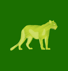 flat shading style icon panther vector image
