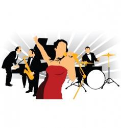 jazz singer vector image vector image