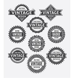 Set of retro vintage badge and label design set vector image