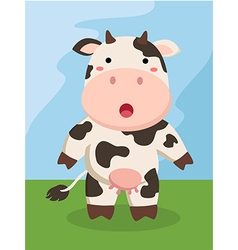 Standing Cute Cow Cartoon vector image vector image