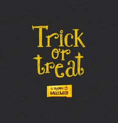 trick or treat and happy halloween vector image vector image