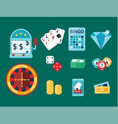 casino game poker gambler symbols blackjack cards vector image vector image