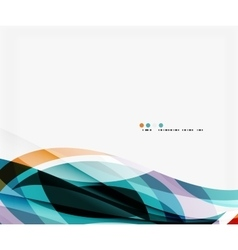 Colorful geometric wave abstract background vector image vector image
