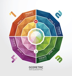 Geometric colorful modern design button vector