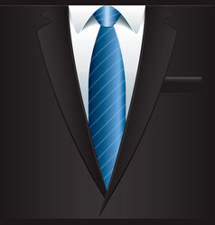 object black man suit vector image vector image