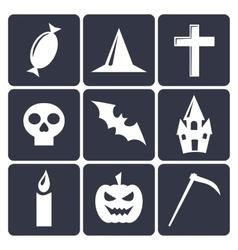 Halloween flat icons Set 1 vector image vector image