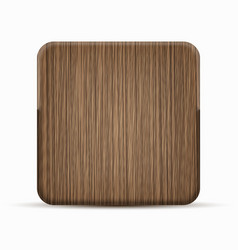 modern wooden icon on white background vector image