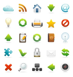 web and internet icon set vector image vector image