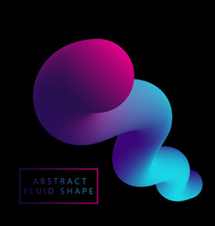 3d fluid like shape vector