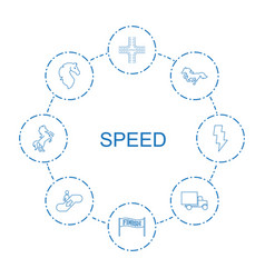 8 speed icons vector
