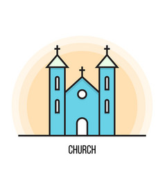 a church vector image