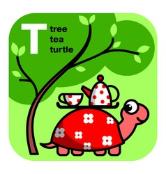 ABC tea tree turtle vector image