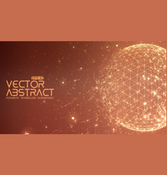 Abstract space red background vector